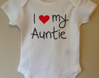 I love (heart) my Auntie - baby body/vest/bodysuit