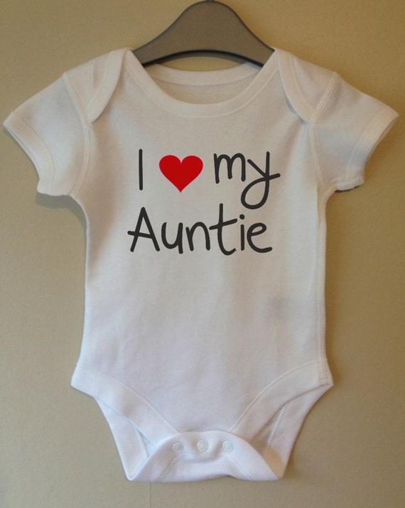 i love heart my auntie baby bodyvestonesie