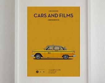 Taxi Driver car movie poster, art print A3 Cars And Films, home decor prints, illustration print. Car print