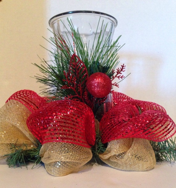 Centerpiece christmas deco mesh