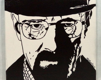 "Heizenberg / Walter White 12"" x 12"" Acrylic Painting"