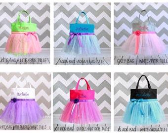 Dance Bag, Ballet bag, tutu bag, personalized bag, girls name bag, custom tote, personalized tote, tote bag, girls princess bag, girl gift