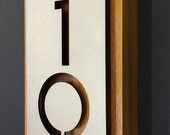 stainless steel, cedar house numbers address plaque