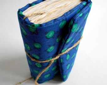 Green Polka dots,  journal, Handmade Diary, Pregnancy journal, Travel notebook, Old paper