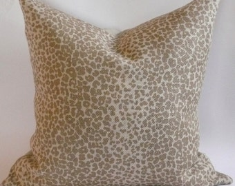 Schumacher Leopard Linen Print Pillow Cover