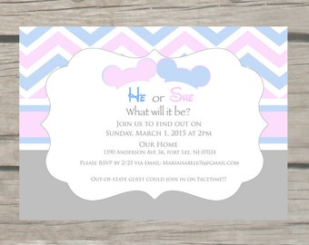 Dumbo Theme Baby Shower Invitations By Thelittlestickynote