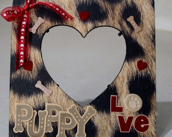 Puppy love/ Dog Frame /Dog love/Paws /Pet Picture frame