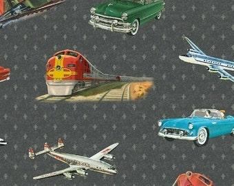 Windham Fabrics Planes, Trains, and Automobiles 35355 Gray Yardage