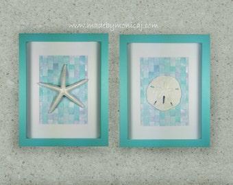 Beach House Wall Art Set Starfish And Sand Dollar Wall