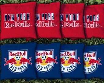 New York Red Bull Cornhole Bags - MLS Licensed