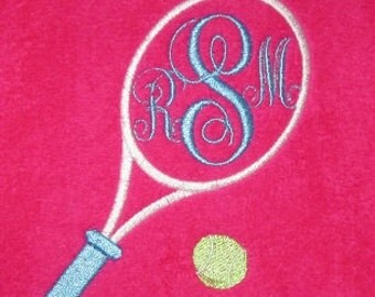 Monogrammed Tennis Towel -- You design it, we create it! New colors - Aqua, Lime, Red,Hot Pink, Royal,Camel, Purple, Navy,and more!