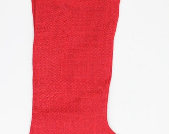 "Red Burlap Stocking - 11""w x 19""h (1 Stocking)"