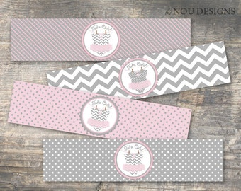 Tutu Cute Water Bottle Label- Printable File