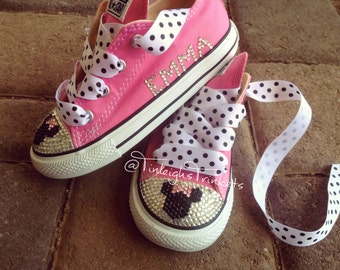Minnie Mouse Toddler Converse Bling Shoes Hot Pink Disney