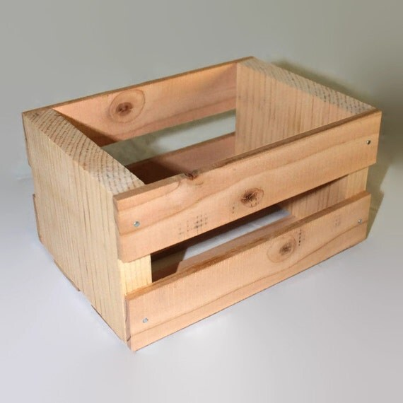 Small wood crates crate for storage centerpieces