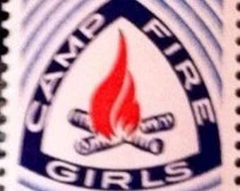 1960s Camp Fire Girls Stamp Block