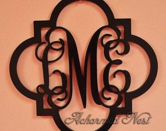 Wooden Monogram CLASSIC FRAME Unpainted Monogram, Home Decor, Wedding Decor, Initial Monogram, Door Hanger, Guarden Decor