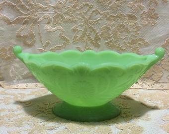 Jadite Green McKee Art Deco  BowlCompote