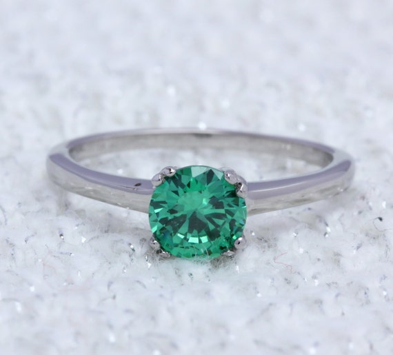 emerald gemstone engagement rings emerald 1ct
