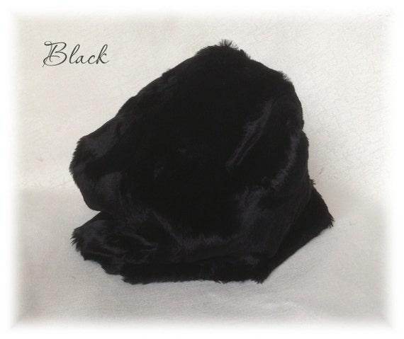Italian Viscose Fur Fabric Black Colour 6 Mm Pile 1 8metre