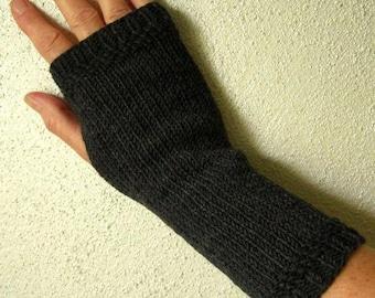 MEG arm warmers Merino anthracite marl
