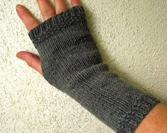 Arm warmers, Gloves, Merino, gray melange