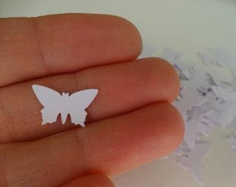 100 white butterflies die cut punch cutout confetti scrapbooking embellishments party decor cardmaking mini paper butterflies