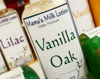 Goat Milk Lotion, Vanilla Oak, Homemade Lotion