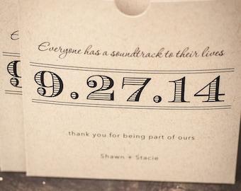 Kraft CD sleeve, Save the Date, DVD sleeve, wedding favour, wedding gift, wedding Cd case, Wedding CD