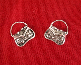"""10pc """"purse"""" charms in antique style silver (BC560)"""