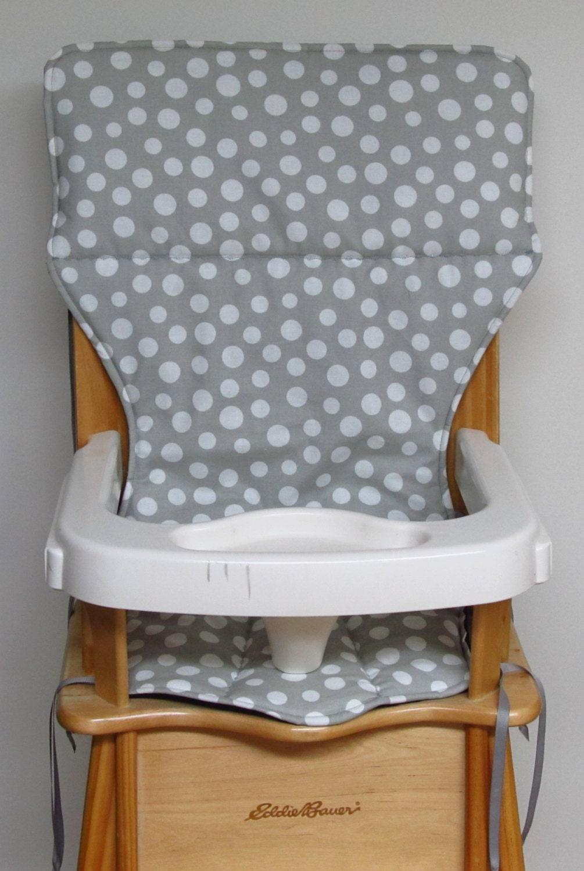 Coussin de chaise haute eddie bauer remplacement housse gris for Housse coussin chaise haute