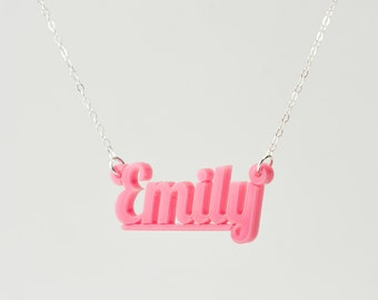 Name Necklace - Acrylic Custom Made Necklace