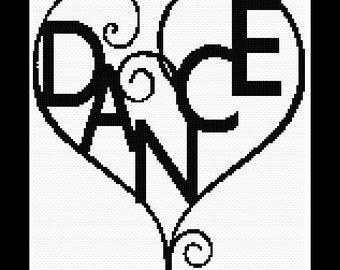 Cross stitch pattern - Love Dance - Instant Download!
