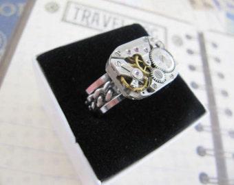 Steampunk Jewelry, Band, Steampunk, Wedding Band, Steampunk Ring, Mens Ring,Groomsmen Gift, Jewelry, Mens Steampunk, Fathers Day Gift