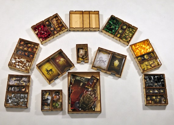 Game of thrones board game wood insert to by boardgamesfactory for Board game storage solutions