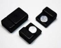 21x18mm Magnetic Clasps, Inside Diameter 2x15mm, in Black Acrylic
