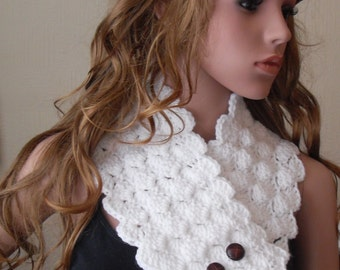 Lumpy Bumpy Neckwarmer Scarf Crochet PATTERN by Peach.Unicorn