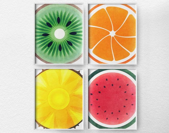 Fruit Kitchen Art Kitchen Decor Kitchen Poster Food Art