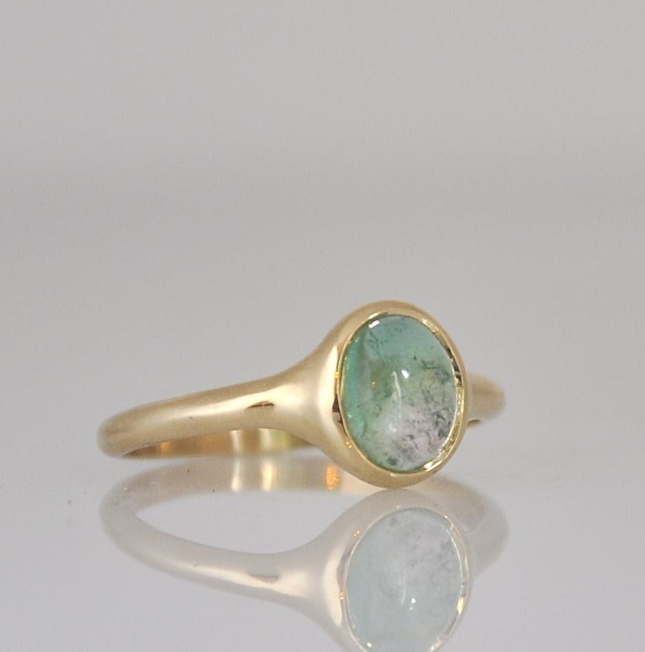 green tourmaline ring engagement gemstone ring 14k gold. Black Bedroom Furniture Sets. Home Design Ideas