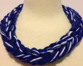 Go Kansas City Royals Blue and White Necklace