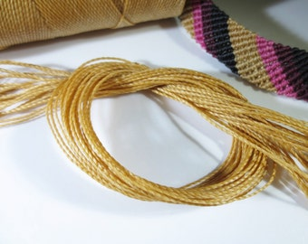 Beige Natural Waxed Polyester Cord 25ft pack  = 8.33 yards = 7,6 meters Linhasita Thread Brand #Palha