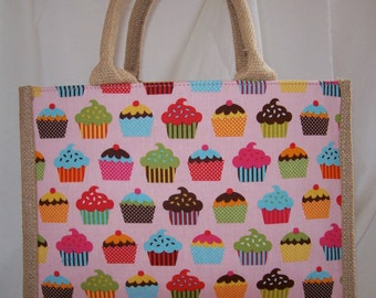 Lunch Bag ,natural fabric. Designer Print
