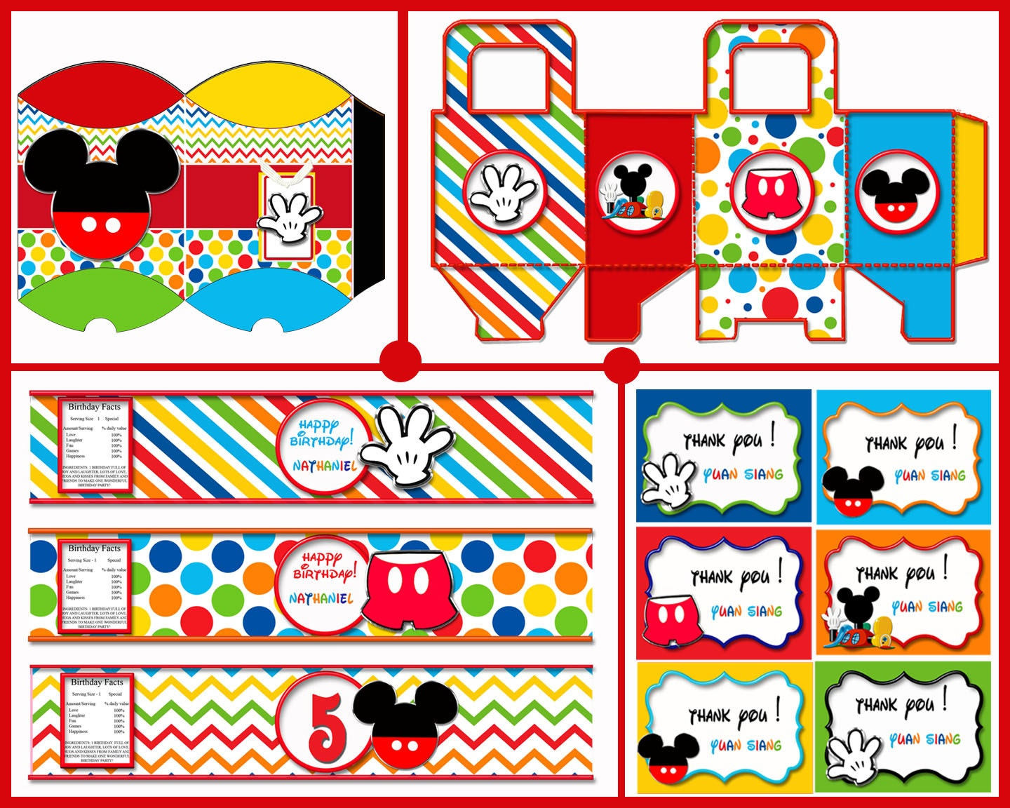 mickey mouse birthday decorations mickey mouse party favors. Black Bedroom Furniture Sets. Home Design Ideas