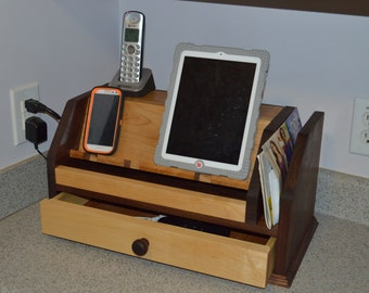 Phone Charging Station For Multiple Phones And Tablets Solid