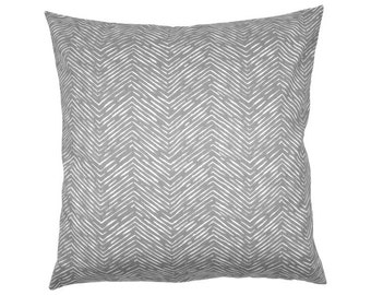 Herringbone CAMERON grey white cushion cover 40 x 40 cm