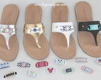 SALE!! Logan & June: Monogrammed Sandals