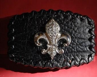 Sambora Leather Rocker Belt Buckle