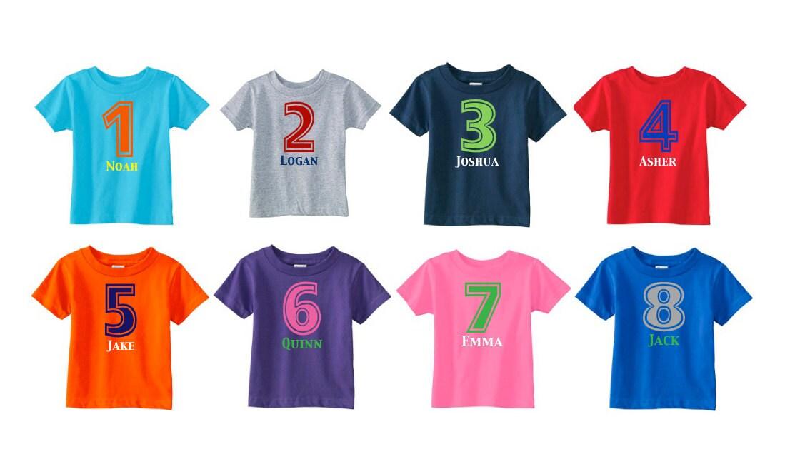 Number Shirt Birthday Shirt Personalized Birthday Shirt