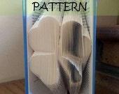Book folding Pattern: 3 LEAF CLOVER design (including instructions) – DIY gift – Papercraft Tutorial