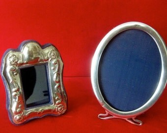 2 Small Sterling Silver Frames